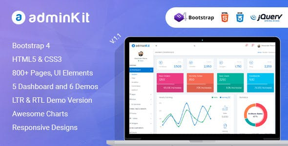 bootstrap 4 templates 2019