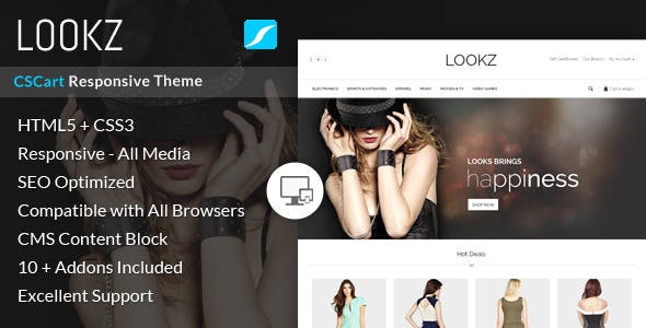 Lookz - CS-Cart Responsive Theme nulled theme download