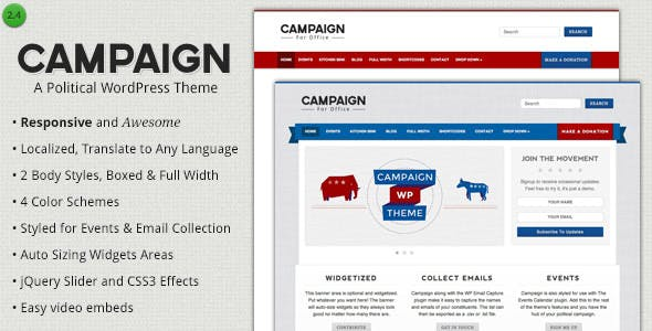 Top 10 Campaign Nulled Themes 2019 Free Download