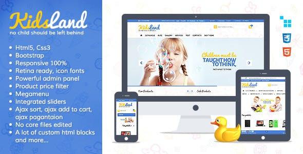 Kids Land - CS-Cart Children Store Theme nulled theme download