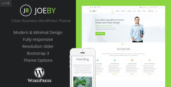 Cleaning business wordpress website templates from themeforest joeby clean business wordpress theme wajeb Gallery