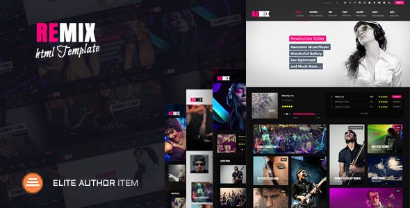 Music website templates from themeforest remix music html5 music maxwellsz