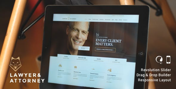 Lawyer & Attorney - WordPress