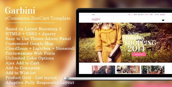 Garbini - Stylish Zencart Responsive Theme nulled theme download