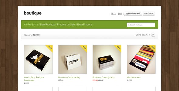 boutique website templates from themeforest