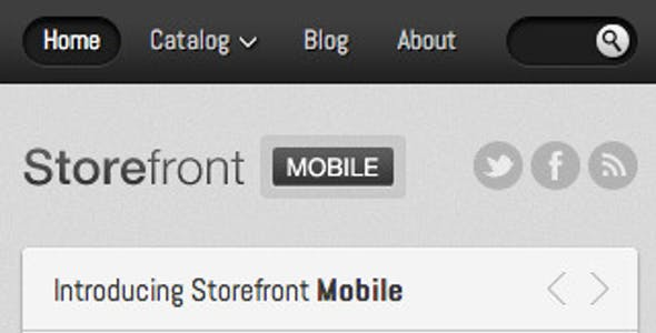 Mobile Shop Template Website Templates from ThemeForest