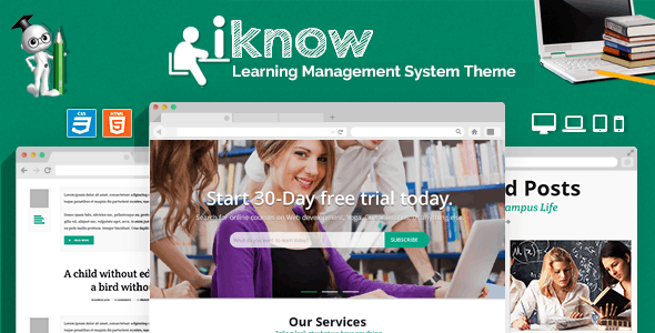 School Management System PHP Website Templates from ThemeForest