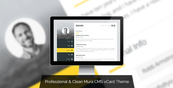 Premium vCard - Mura CMS Responsive vCard Theme nulled theme download
