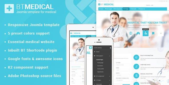 Bt Medical Responsive Joomla Template Health Beauty Retail