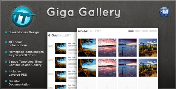 gallery html website templates from themeforest