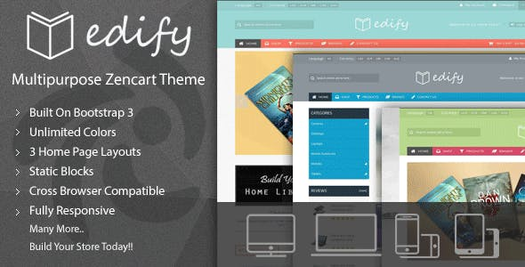 Edify - Responsive Zen Cart Theme nulled theme download