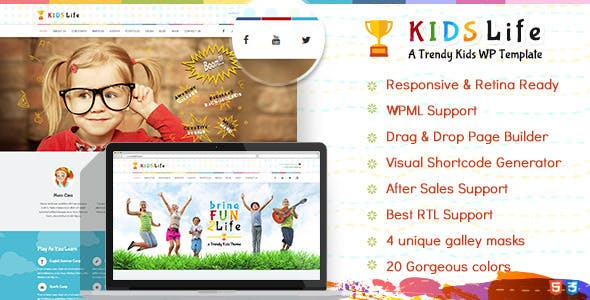 Kids Life | Children WordPress Theme