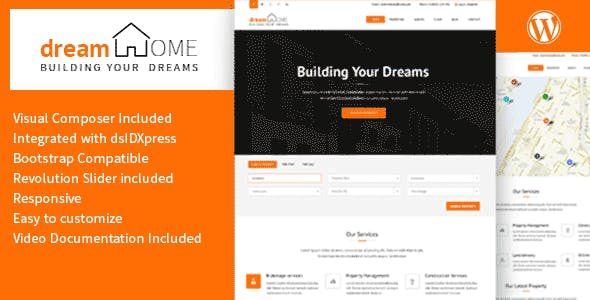 Rental Property Management Website Templates from ThemeForest