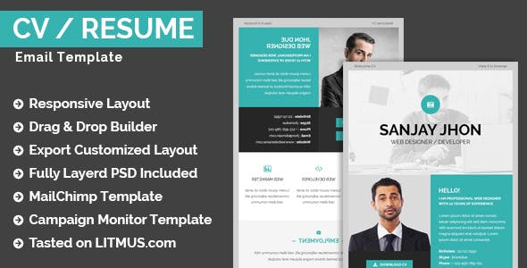cvresume email template builder access