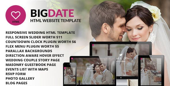 dating site website templates from themeforest