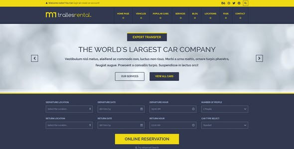 Car Selling Website Templates from ThemeForest