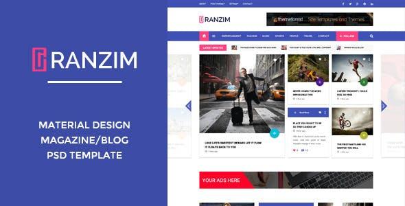 Material Design Blog Website Templates From Themeforest