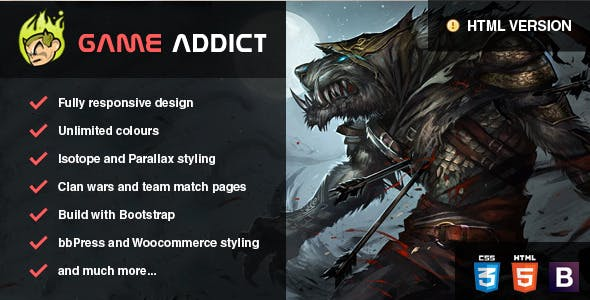 Gaming Clan Website Templates from ThemeForest