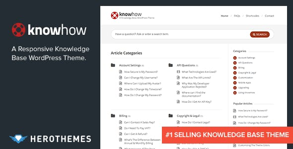 Knowledge Base Website Templates From Themeforest