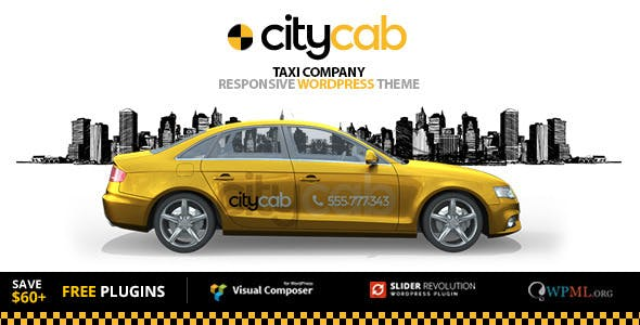 CityCab - Taxi Company & Taxi Firm WordPress Theme