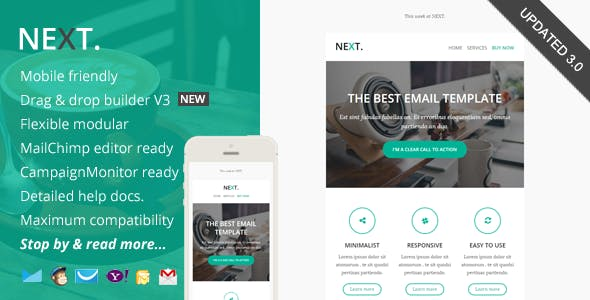 corporate newsletter clear all next responsive email with online editor access
