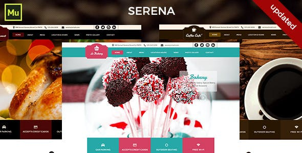 Small business website templates from themeforest small business website clear all serena muse template friedricerecipe Images