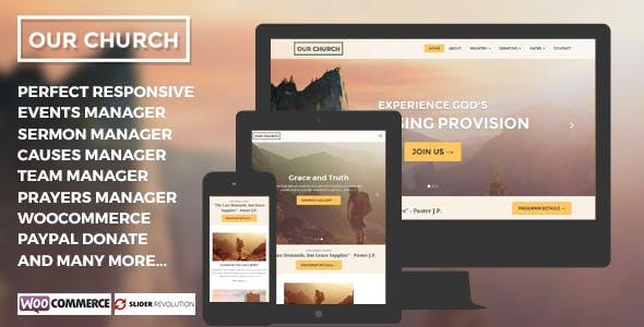 Our Church - Responsive Multipurpose WordPress Churches Theme