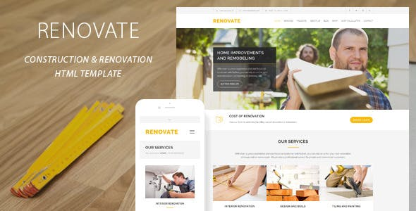 renovate construction renovation template by quanticalabs