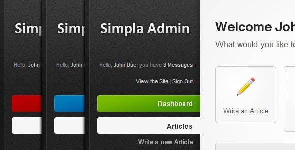 Simpla Admin - Flexible & User Friendly Admin skin