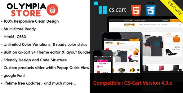 Olympia - Responsive CS-Cart Theme nulled theme download