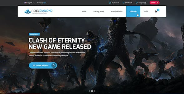 Gaming Website Templates from ThemeForest (Page 3)