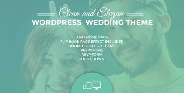 Ulemulem 3in1 Clean Modern Simple Wedding Invitation Wordpress