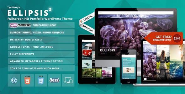 Ellipsis - Fullscreen HD Portfolio WordPress Theme by tymberry