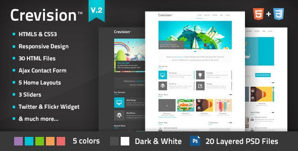 Crevision - Responsive HTML Template