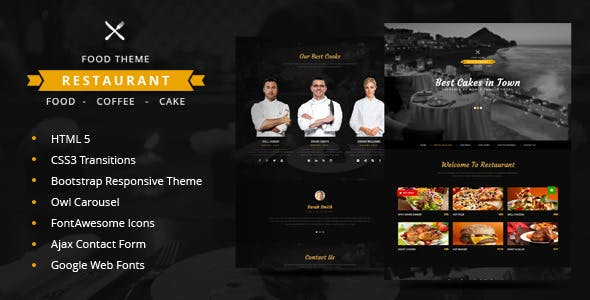Restaurant One Page Html5 Theme