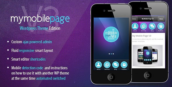 My Mobile Page V3 Wordpress Theme nulled theme download