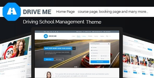 Driveme - Driving Class | School MuraCMS Theme nulled theme download