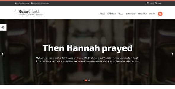Hope - Church Responsive HTML5 MuraCMS theme nulled theme download