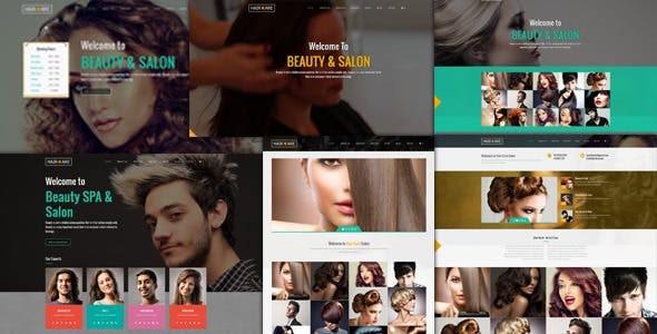 beauty hair salon templates from themeforest