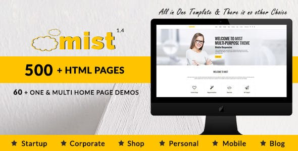 Power point template business website templates from themeforest mist multi purpose html5 responsive template toneelgroepblik Choice Image