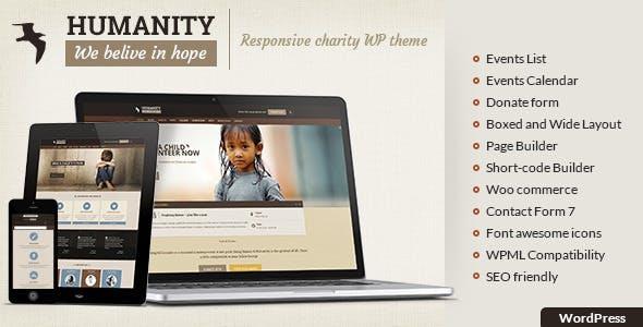 humanity ngo charity ngo wordpress theme