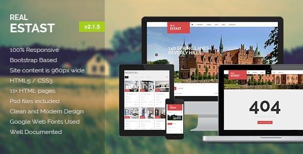 Real Estate House HTML Website Templates from ThemeForest on sample database, sample doc, sample software,