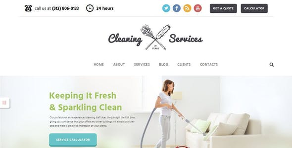 janitorial website templates from themeforest