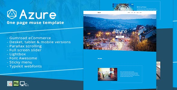 Azure website templates from themeforest azure pure blue muse template for portfolios creatives maxwellsz