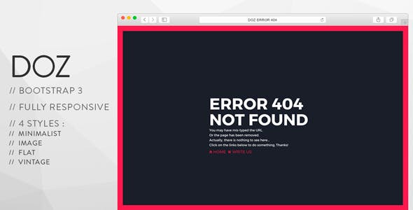 404 Page Not Found Error 404 HTML Website Templates