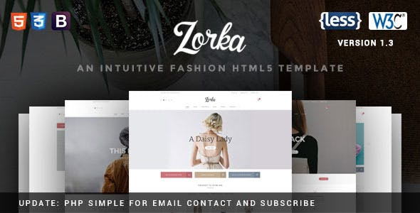 Phpmailer html templates from themeforest zorka an intuitive fashion html5 template maxwellsz