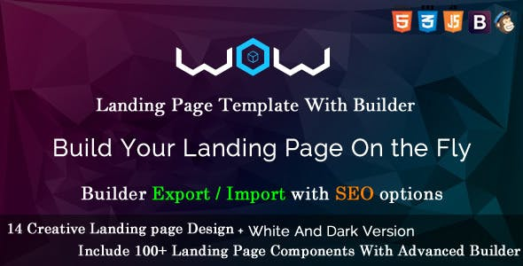 Wow landing page template.