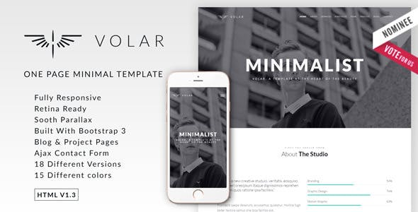 one page minimal website templates from themeforest