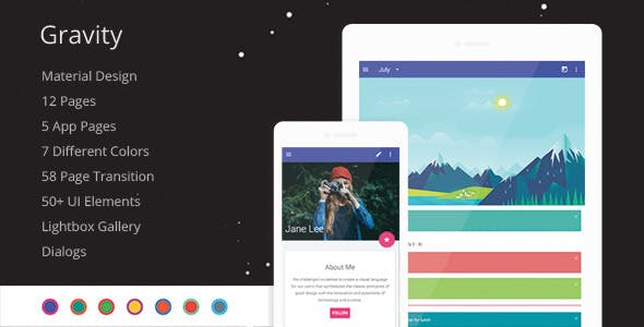 Ipad and Tablet HTML Mobile Website Templates from ThemeForest