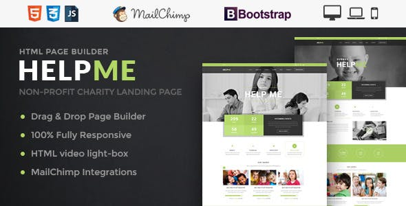fundraising website template templates from themeforest